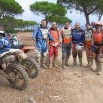 Davide, Enrico, Paolo, Silvio, Francesco e Mancio, al ristoro